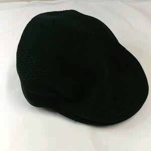 Black Kangol Flat Cap hat